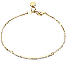 Buy John Lewis Gold Plated Cubic Zirconia Pave Bar Bracelet, Gold Online at johnlewis.com