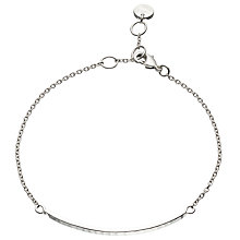 Buy John Lewis Gemstones Silver Plated Hammered Bar Bracelet, Silver Online at johnlewis.com