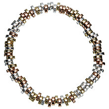 Buy John Lewis Tri Tone Flat Bead Stretch Bracelet, Multi Online at johnlewis.com