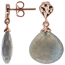 Buy John Lewis Rose Gold Plated Labradorite Drop Earrings, Rose Gold Online at johnlewis.com