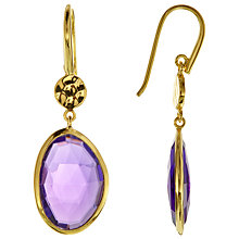 Buy John Lewis 18ct Gold Plated Amethyst Double Drop Earrings, Gold/Purple Online at johnlewis.com