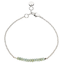 Buy John Lewis Gemstones Silver Plated Aqua Chalcedony Bar Bracelet, Silver/Blue Online at johnlewis.com