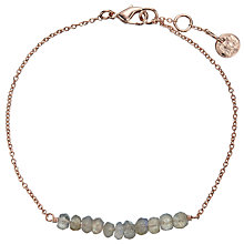 Buy John Lewis Rose Gold Plated Labradorite Bar Bracelet, Rose Gold Online at johnlewis.com