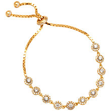 Buy Adele Marie Gold Plated Sterling Silver and Cunic Zirconia Tennis Bracelet, Gold Online at johnlewis.com
