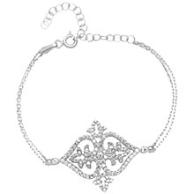 Buy Adele Marie Sterling Silver Filigree Cubic Zirconia Bracelet, Silver Online at johnlewis.com