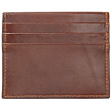Buy John Lewis Made in Italy Leather Card Holder, Brown Online at johnlewis.com