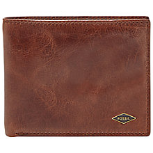 Buy Fossil Ryan Leather Bifold Wallet, Brown Online at johnlewis.com