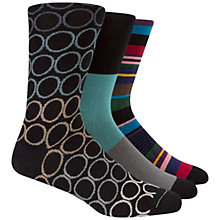 Buy Paul Smith Pattern Socks Gift Set, Pack of 3, One Size, Multi Online at johnlewis.com
