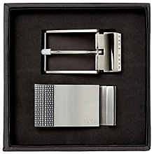 Buy BOSS Gale Belt in a Box, Black Online at johnlewis.com