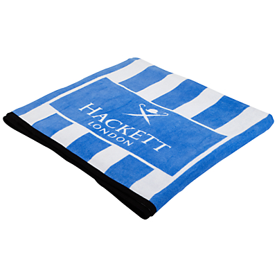Hackett London Stripe Towel, Blue
