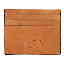 Buy John Lewis Made In Italy Credit Card Holder, Tan Online at johnlewis.com