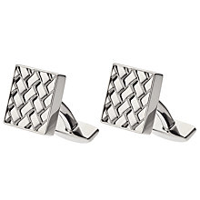 Buy BOSS Argo Square Cufflinks, Silver Online at johnlewis.com