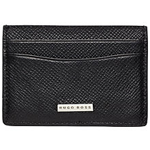 Buy BOSS Signature Card Holder, Black Online at johnlewis.com