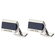 Buy BOSS Xavier Rectangular Contrast Cufflinks, Navy Online at johnlewis.com