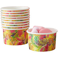 Buy Ginger Ray Flamingo Fun Ice Cream Tubs, Set of 8 Online at johnlewis.com