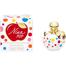 Buy NIna Ricci Nina Pop Eau de Toilette 50ml 10th Birthday Collectors Edition Online at johnlewis.com