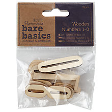 Buy Docrafts Wooden Number Shapes, Pack of 10 Online at johnlewis.com