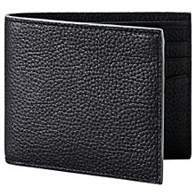 Buy Jack Spade Mason Leather Billfold Wallet, Black/Grey Online at johnlewis.com