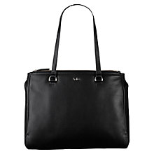 Buy Tula Nappa Originals Large Leather Zip Top Bag, Black Online at johnlewis.com