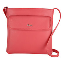 Buy Tula Nappa Medium Zip Top Across Body Bag, Red Online at johnlewis.com