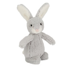 Buy Jellycat Bobtail Bunny Soft Toy, Silver Online at johnlewis.com