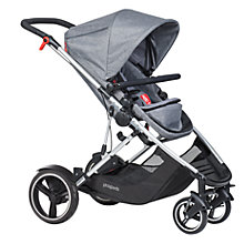 Buy Phil & Teds Voyager Pushchair with Free Double Kit, Grey Marl Online at johnlewis.com