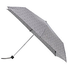 Buy John Lewis Superslim Mini Spot Umbrella, Black/White Online at johnlewis.com