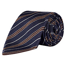Buy Aquascutum Ryan Stripe Silk Tie, Navy Online at johnlewis.com