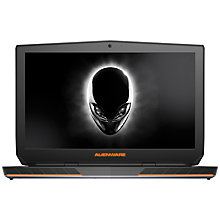 "Buy Dell Alienware 17 R3 Laptop, Intel Core i7, 16GB RAM, 1TBHDD + 256GB SSD, 17.3"", Epic Silver Online at johnlewis.com"