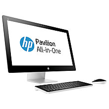 "Buy HP Pavilion 27-n230na All-in-One Desktop PC, Intel Core i3, 8GB RAM, 2TB, 27"" Full HD, Blizzard White Online at johnlewis.com"