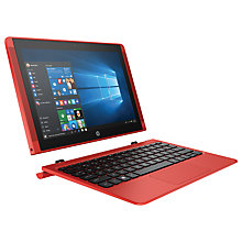 "Buy HP Pavilion x2 Detachable Laptop, Intel Atom, 2GB RAM, 64GB  eMMC, 10.1"" Touch Screen with Free MS Office Mobile, Sunset Red Online at johnlewis.com"