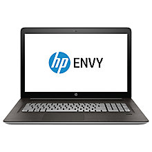 "Buy HP Envy 17-N107NA Laptop, Intel Core i7, 16GB RAM, 512GB SSD, 17"", Natural Silver Online at johnlewis.com"