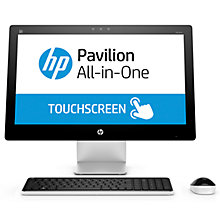 "Buy HP Pavilion 23-q235na All-in-One Desktop PC, Intel Core i3, 8GB RAM, 2TB, 23"" Online at johnlewis.com"
