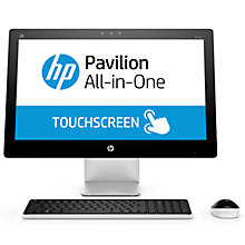 "Buy HP Pavilion 23-q255na All-in-One Desktop PC, Intel Core i5, 8GB RAM, 2TB, 23"" Full HD Touchscreen, Blizzard White Online at johnlewis.com"