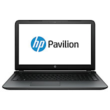 "Buy HP Pavilion 15-ab104na Laptop, AMD A10, 12GB RAM, 1TB, 15.6"" Full HD, Twinkle Black Online at johnlewis.com"