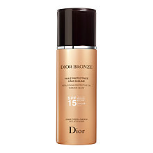Buy Dior Bronze Beautifying Protective Oil Sublime Glow SPF 15, 125ml Online at johnlewis.com