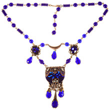 Buy Alice Joseph Vintage 1920s Gold Toned Czech Glass Bead Bohemian Necklace, Indigo Online at johnlewis.com