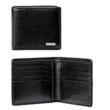 Buy HUGO by Hugo Boss Element Grained Leather 8 Card Wallet, Black Online at johnlewis.com