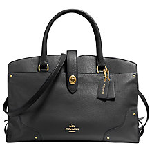 Buy Coach Mercer Leather Satchel Bag Online at johnlewis.com