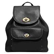 Buy Coach Turnlock Leather Rucksack Online at johnlewis.com