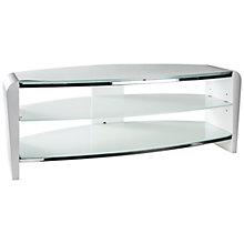 "Buy Alphason Francium 1100mm Stand For TVs Up To 50"", Arctic White Online at johnlewis.com"