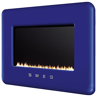 Smeg L30FABDB Flueless WallMounted Natural Gas Fire Dark Blue
