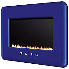 Buy Smeg L30FABDB Flueless Wall-Mounted Natural Gas Fire, Dark Blue Online at johnlewis.com