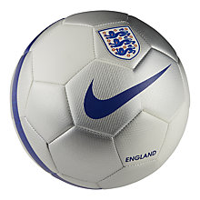 Buy Nike Prestige England Football, White/Blue Online at johnlewis.com