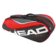 Buy Head Team 6 Tennis Racket Bag, Black/Red Online at johnlewis.com