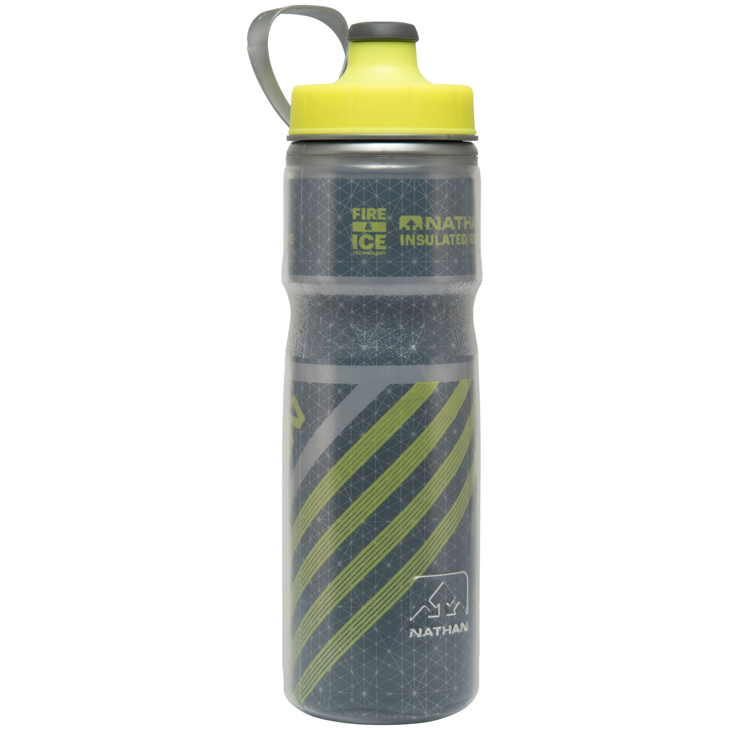 Nathan Nathan Fire and Ice 2 Water Bottle, 600ml, Grey