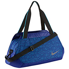 Buy Nike Legend Club Print Duffel Bag, Black/White Online at johnlewis.com