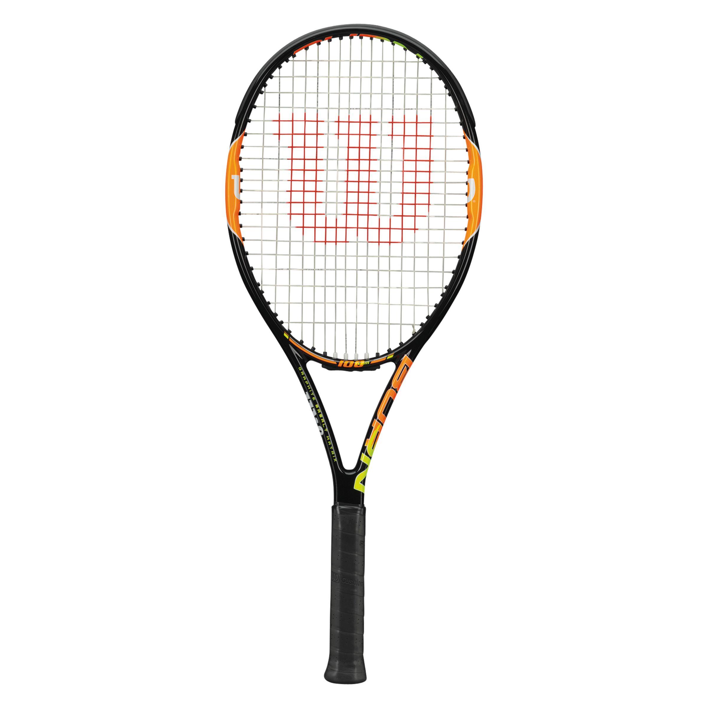 Wilson Wilson Burn 100 Team Tennis Racket, Black/Orange