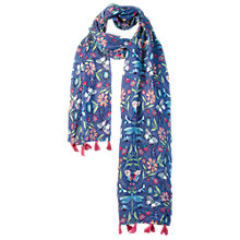 Buy Fat Face Butterfly Print Scarf, Blue Online at johnlewis.com