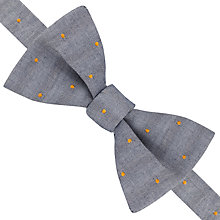 Buy Thomas Pink Gray Spot Self Tie Bow Tie, Grey/Orange Online at johnlewis.com